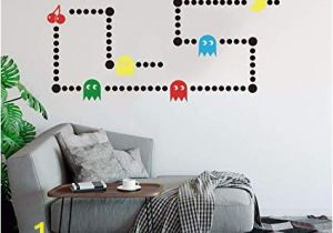 Castle Wall Mural Sticker Amazon Pacman Game Wall Decal Retro Gaming Xbox Decal