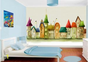 Castle Wall Mural Sticker Custom Size 3d Wallpaper Mural Livingroom Kids Room European Castle Cartoon Picture sofa Tv Backdrop Wallpaper Mural Non Woven Sticker High Res