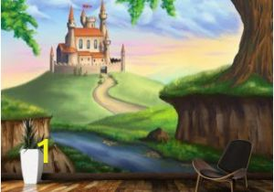 Castle Wall Mural Sticker Fantasy Castle Wallpaper Mural Youth Ministry