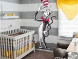 Cat In the Hat Wall Murals Dr Seuss Giant Cat In the Hat Children Wall Decal Nursery Decal