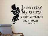 Cat In the Hat Wall Murals Pvc Removable Alice In Wonderland Cheshire Cat Wall Stickers Vinyl
