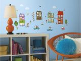 Cat In the Hat Wall Murals Roommates Happy town Peel and Stick Wall Decals Amazon