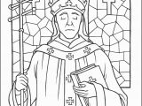 Catholic Vocations Coloring Pages Saint Pope Leo the Great Coloring Page the Catholic Kid