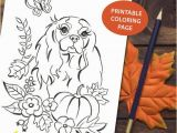 Cavalier King Charles Spaniel Coloring Page Printable Coloring Page Cavalier King Charles Spaniel Autumn Season Pumpkin Diy Dog Art Coloring Page Digital File Diy Dog Wall Art