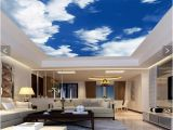 Ceiling Decals Mural 3d Wallpaper Mural Decor Backdrop Blue Sky White Clouds