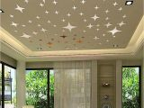 Ceiling Decals Mural 43pcs Silver Mirror Style Decal Art Mural Wall Sticker Home Diy
