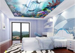 Ceiling Decals Mural Colored Corals Dolphins In 2019 House