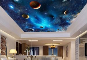 Ceiling Decals Mural Universe Space Planet Night Sky Stars Mural for Kids Bedroom