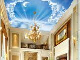 Ceiling Murals for Sale Custom 3d Ceiling Murals Blue Sky Ladder Of the Moon Modern Wall