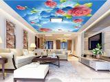 Ceiling Murals for Sale Custom 3d Ceiling Sunny Sky Rose 3d Wallpaper for Ceilings