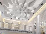Ceiling Murals for Sale Custom 3d Ceiling Wallpaper White Polygon Brick Wall Wallpaper for