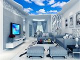 Ceiling Murals for Sale Custom Ceiling Mural Wallpaper 3d Blue Sky and White Clouds Living