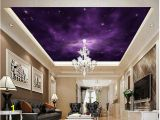 Ceiling Murals for Sale Wallpaper 3d Ceiling Purple Fantasy Night Sky Zenith Ceiling Design