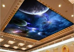 Ceiling Murals Night Sky 3d Wallpaper Mural Night Clouds Star Sky Wall Paper Background