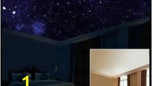 Ceiling Murals Night Sky Starscapes In Daytime Your Bedroom Ceiling Looks normal but when