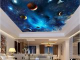Ceiling Murals Night Sky Universe Space Planet Night Sky Stars Mural for Kids Bedroom