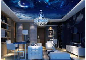 Ceiling Murals Night Sky wholesale Modern 3d Wallpaper Custom Ceiling Mural Wallpaper
