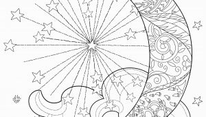 Celestial Moon Coloring Pages for Adults Celestial Sun Moon Coloring Page