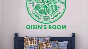 Celtic Football Wall Murals Celtic Football Club Personalised Crest & Name Wall Sticker
