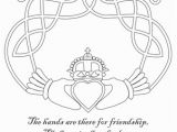 Celtic Knotwork Coloring Pages Claddagh Coloring Page