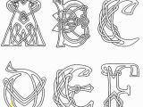 Celtic Knotwork Coloring Pages Clipart Celtic Letters