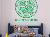 Celtic Mural Wall Art Celtic Football Club Personalised Crest & Name Wall Sticker