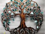 Celtic Mural Wall Art Teal Sparkle Leaf 28 Inch Diameter Tree Of Life Infinity