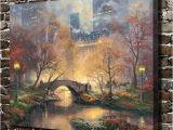 Central Park Wall Mural 2019 Thomas Kinkade Central Park In He Fall Canvas Prints Wall Art Oil Painting Home Decorunframed Framed From Q $5 98