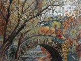 Central Park Wall Mural Central Park Scene Mosaic Mural Arts