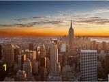 Central Park Wall Mural Sunset Over Manhattan From top Of the Rock In 2019
