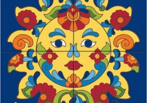 Ceramic Mural Designs Tile Mural Talavera Sunface Tiles