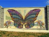 "Ceramic Murals On Wall butterfly Mural"" Made Of Our Ceramic Tiles Was Dedicated to the"
