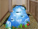 Ceramic Tile Murals Bathroom 3d Pvc Flooring Custom Cliff Sky Bathroom Kitchen Hotel