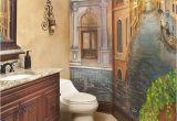 Ceramic Tile Murals Bathroom Powder Bath with Venetian Mural
