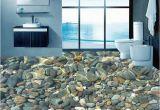 Ceramic Tile Murals Bathroom Wallpaper 3d Realistic Underwater Cobblestone Floor Tiles