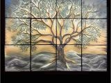 Ceramic Wall Murals Designs Lantern Tree Of Life Backsplash Custom Handmade