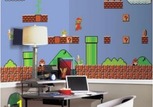 Chair Rail Wallpaper Murals Super Mario Retro Xl Chair Rail Prepasted 10 5 X 6 Mural Multi