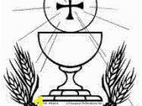 Chalice and Host Coloring Page 74 Best First Munion Banners Images On Pinterest
