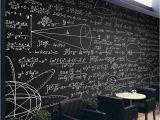Chalk Quotes Wall Mural Beibehang Custom Wallpaper Mathematical formula