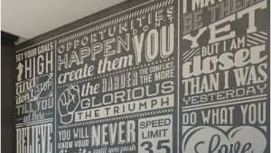 Chalk Quotes Wall Mural Brewster Home Fashions Chalk Quotes Wall Mural