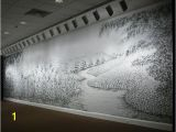 Charcoal Murals A Finger Painted Mural Made with Charcoal Dust