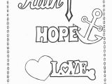 Charity Coloring Pages Faith Hope Love Coloring Page Printables Pinterest