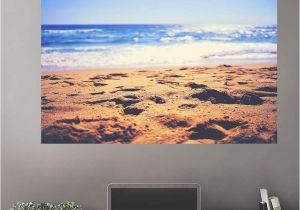 Cheap Beach Wall Murals Sunny Sand Beach Wall Decals Peel & Stick Re Movable Wall Art Zapwalls