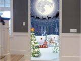 Cheap Christmas Wall Murals Creative 3d Christmas Pattern Door Sticker Diy Decor Wall Painting Pvc Self Adhesive Wall Mural Xmas Decoration Wallpaper Decal Stickers Hd Wallpaper