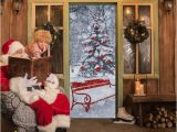 Cheap Christmas Wall Murals Dlm2020 Snow Christmas Tree Door Wall Sticker Graphic Unique Mural Cosplay Gifts for Living Room Home Decoration Pvc Decal Paper Wn649d Nursery