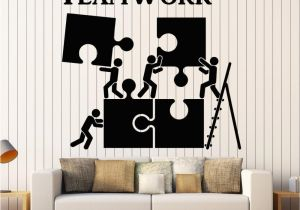 Cheap Wall Murals and Decals Vinyl Wall Decal Teamwork Motivation Decor for Fice Worker Puzzle