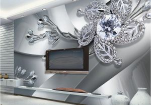 Cheap Wall Murals Canada Custom Any Size 3d Wall Mural Wallpaper Diamond Flower Patterns