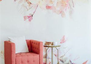 Cheap Wall Murals for Sale Spring Floral Wall Mural Watercolor Wallpaper In 2019
