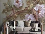 Cheapest Wall Murals Customize Any Size 3d Wallpaper Mural Stereoscopic Relief Flower
