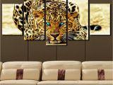 Cheetah Print Wall Murals 2019 5 Plane Abstract Leopards Modern Home Decor Wall Art Canvas